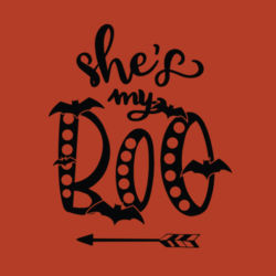 She's My Boo - Adult t-shirt Design
