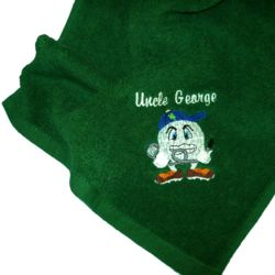 Angry Golf Ball Golf Towel Thumbnail